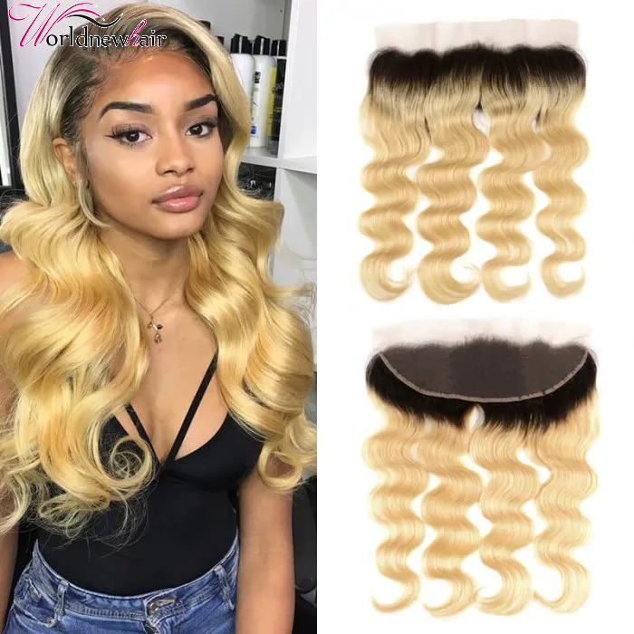 1B/613 Body Wave Lace Frontal Closure With Baby Hair