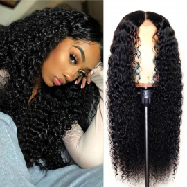 Virgin Deep Wave 6*6 Human Hair Lace Closure Wigs Pre Plucked Natural Hairline Wigs With Baby Hair