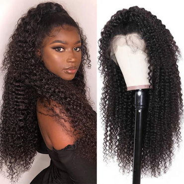 Kinky Curly Human Hair Lace Front Wig Afro Kinky Curly Human Hair Wigs For Sale